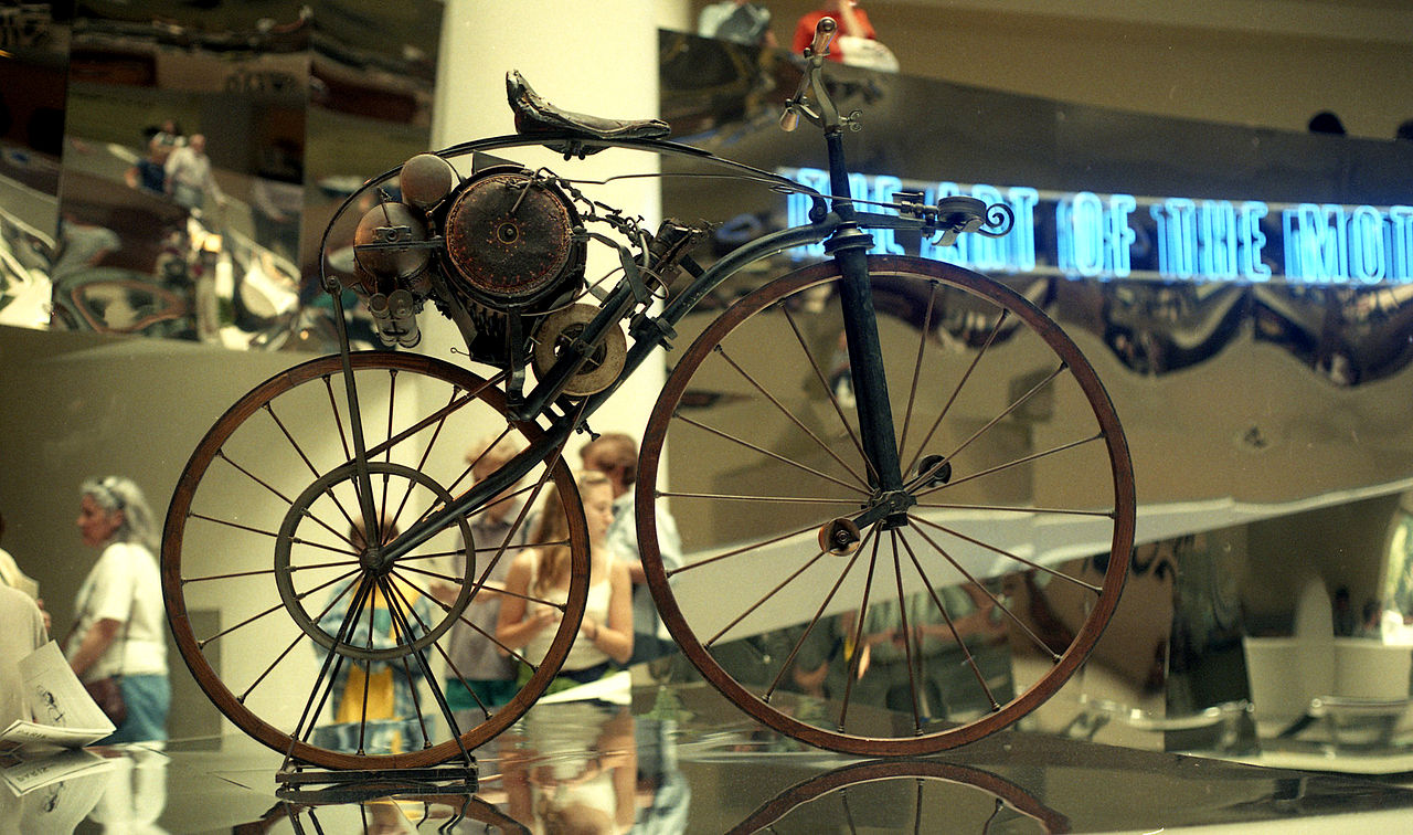 1867 – First steam powered motorcycle is invented