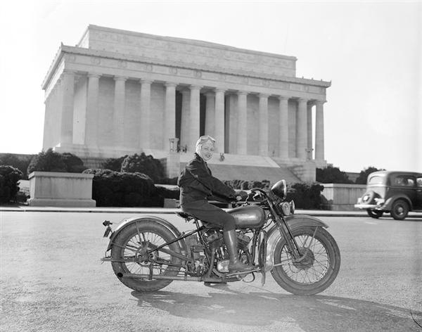 1937 – First licenced female motorcyclist