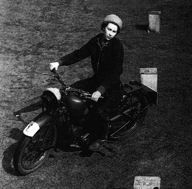 1941 – First Queen to ride a motorcycle